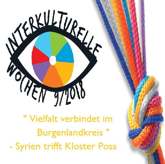 """""""Vielfalt verbindet im Burgenlandkreis"""" – Syrien trifft Kloster Posa am 25.9.2018"""