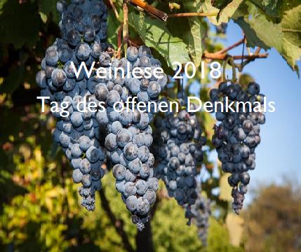 Einladung Weinlese 2018/ Tag des offenen Denkmals