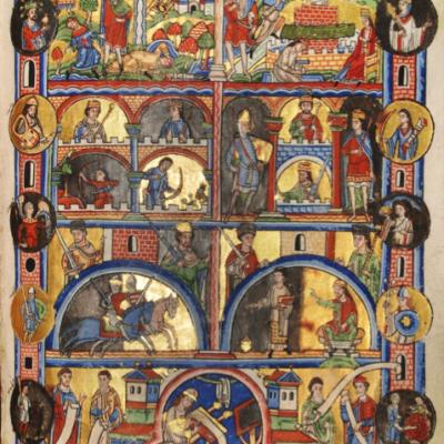Diese Handschriftenseite aus dem Scriptorium des Klosters Posa datiert in das 12. Jahrhundert und wird heute im Archiv der Landesschule Pforta aufbewahrt. (Quelle: Landesschule Pforta)